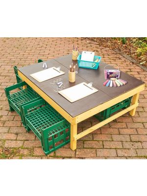 WINDMILL H CRATE CHALK TABLE + H CRATE SEATS