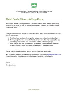 Metal bowls mirrors magnifiers advice and care