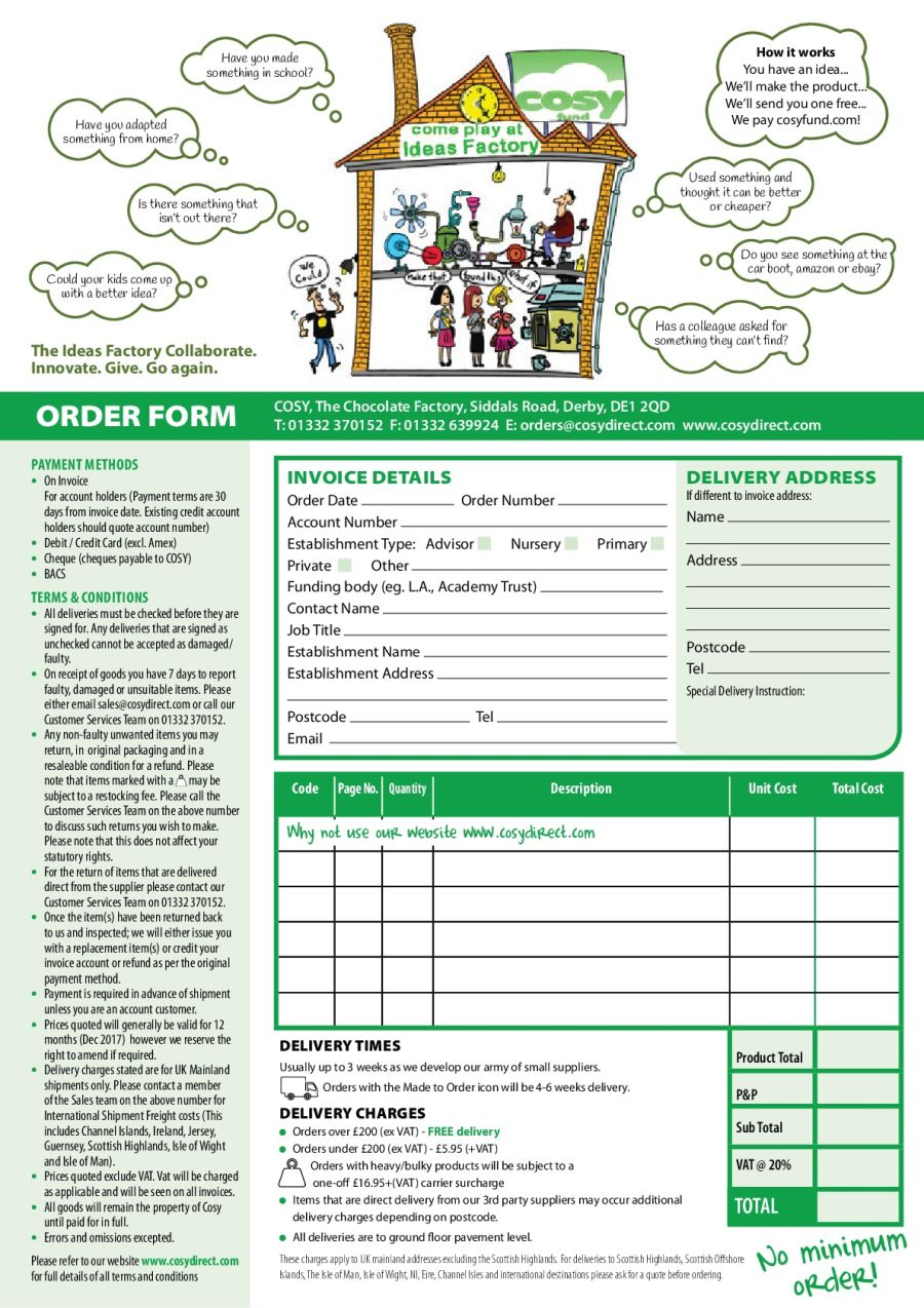 Download our Order Form
