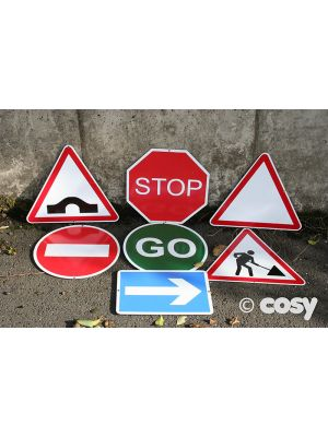 METAL TRAFFIC SIGNS (7PK)