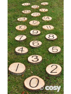 NUMBER STEPPING STONES (21PK)