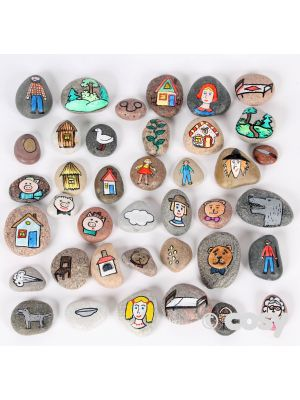 5 FAIRY TALE / TRADITIONAL STORY STONES SET 1 (40PK)