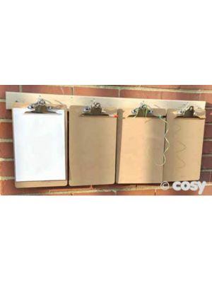 A4 WOODEN CLIPBOARDS (6PK)