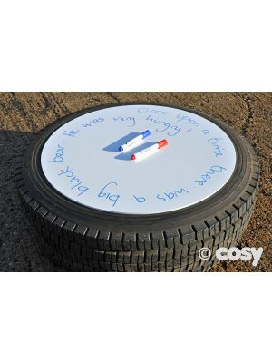 LORRY TYRE WRITING WHITEBOARD CIRCLE