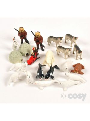 ARCTIC ANIMALS (24PK)