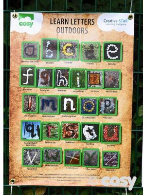WEATHERPROOF NATURE ALPHABET POSTER