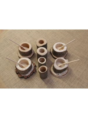 NATURAL MUD PIE TEA SET (16PK)