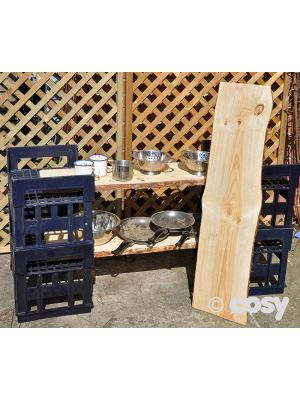 H CRATES WITH RUSTIC SHELVES