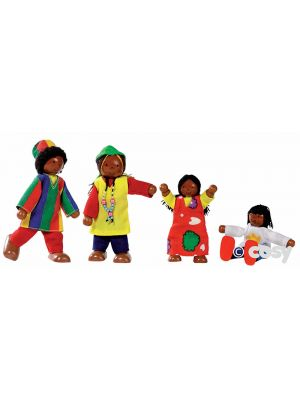 FLEXIBLE PUPPETS AFRO CARIBBEAN FAMILY