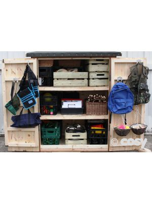 ASSEMBLED ACE NARROW STORAGE SHED