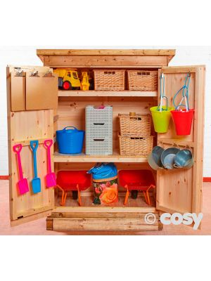 CHANGEABLE SHELVING SHED