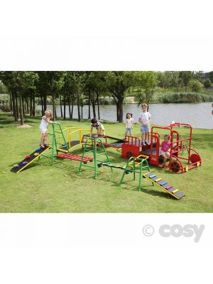 OUTDOOR ACTIVITY PLAY GYM WITH WOBBLE BOARD