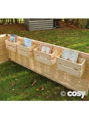 S HOOK FENCE BOOK CRATES (4PK)