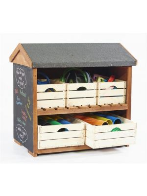 EPHGRAVE'S LOW OUTDOOR SHELVING
