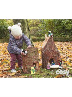 RUSTIC CROOKED FAIRY HOUSES (2PK)