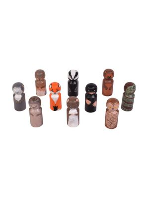 PEG PEOPLE: WOODLAND CREATURES (10PK)