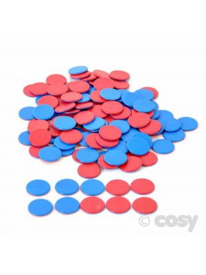 DOUBLE SIDED COUNTERS BLUE AND RED (200PK)