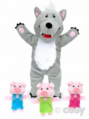 BIG BAD WOLF & LITTLE PIG PUPPET SET