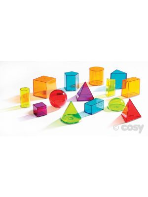 VIEW THRU COLOURFUL GEOMETRIC SHAPES (14PK)