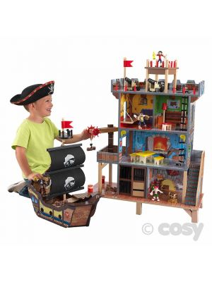 WOODEN PIRATE TOY SET