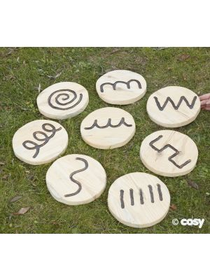 SMALLER WOODEN HANDWRITING SHAPES (8PK)