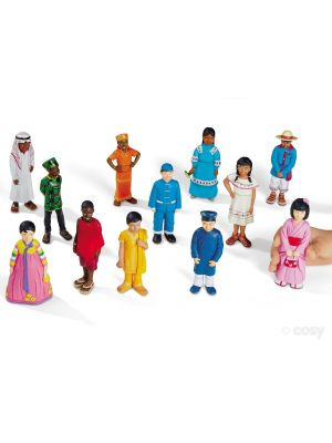 KIDS AROUND THE WORLD BLOCK PLAY PEOPLE (12PK)