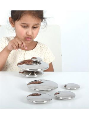 METAL MIRROR PEBBLES (7PK)