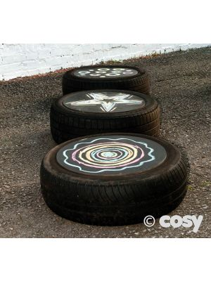 BLACKBOARD TYRE TABLE TOPS (3PK)