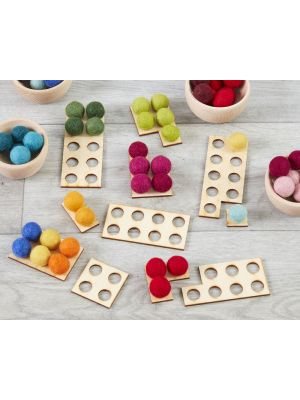SMALL WOODEN NUMBER FRAMES  (11PK)