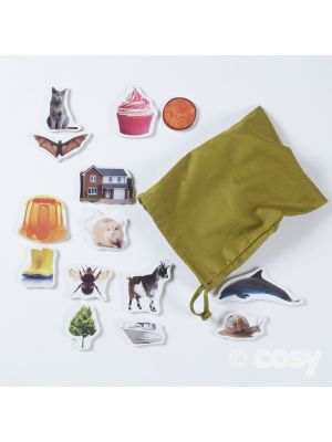 WOODEN RHYMING PHOTOGRAPHIC PIECES 40PK