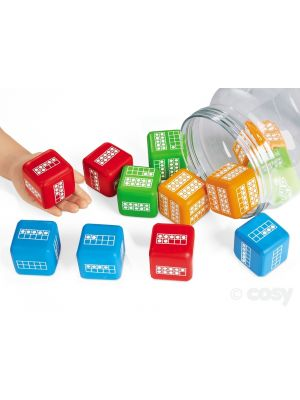 TEN FRAMES ACTIVITY DICE (12PK)