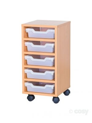 5 SHALLOW CUBBY TRAY UNIT