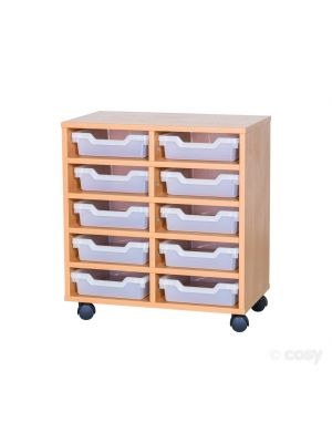 10 SHALLOW CUBBY TRAY UNIT
