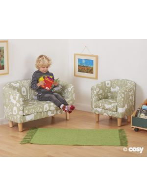 WIPEABLE VINYL TUB SOFA & CHAIR