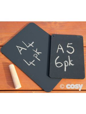 A5 OUTDOOR BLACKBOARDS (6PK)
