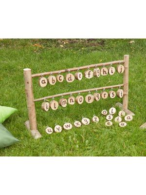 RUSTIC TABLE TOP WASHING LINE - FRAME & ALPHABET