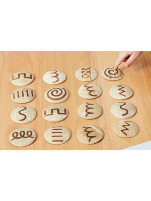 COCONUT HANDWRITING SHAPES (16PK)