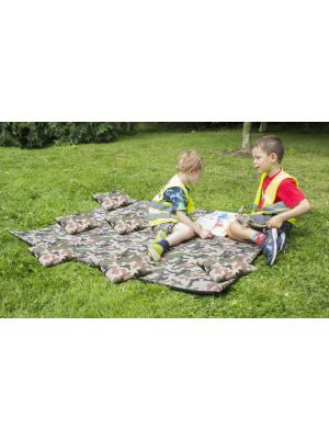 Camo Mat and Cushions Set