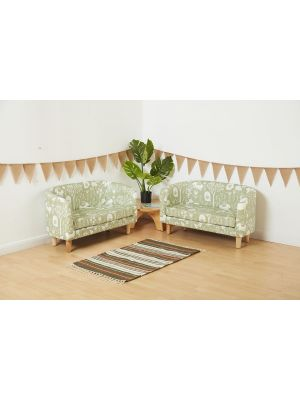 WIPEABLE VINYL TUB SOFAS (2PK)
