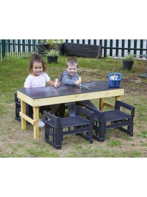 SLIM H CRATE CHALK TABLE + 4 H CRATES
