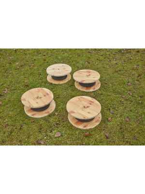 TINY TYRE CABLE DRUMS (4 PK)