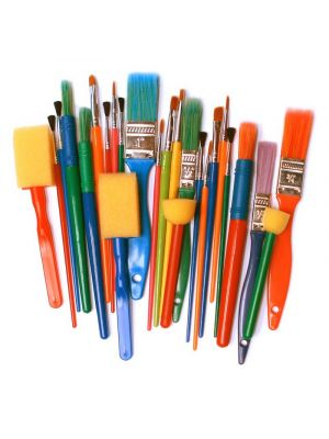 Assorted Brushes & Dabbers (25Pk)
