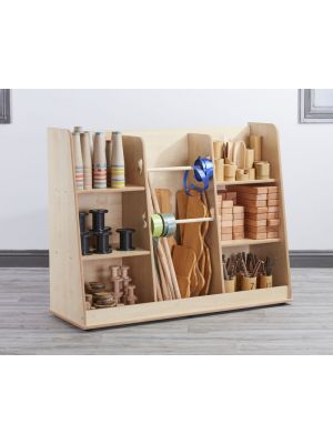 Loose Parts Free Standing Shelving - Maple