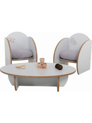 Mini Table & Chair Set (3Pk)