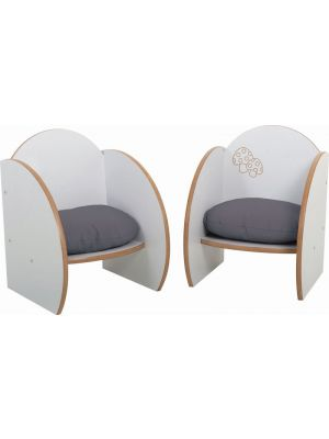 Mini Chairs with cushions  (2Pk)