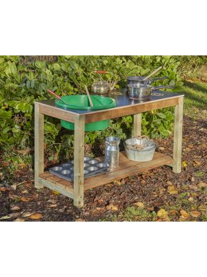 Bargain basement mud kitchen