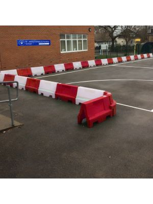 Red & White Water Filled Playground Barriers and Dividers 21pk
