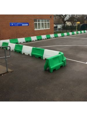 Green & White Water Filled Playground Barriers and Dividers 21pk