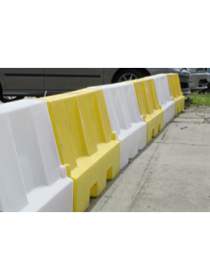 Yellow & White Water Filled Playground Barriers and Dividers 21pk