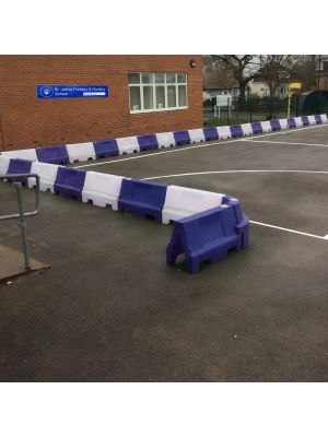 Blue & White Water Filled Playground Barriers and Dividers 21pk